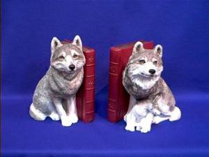 wolf bookends figurines