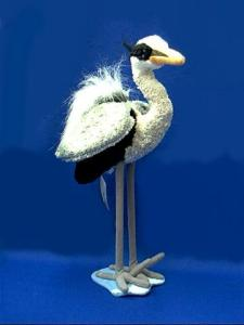 blue heron plush stuffed animal toy