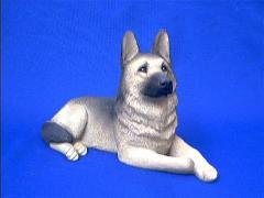 german shepherd figurine original size lying