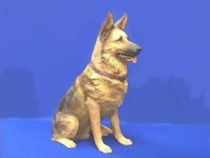 Lifesize German Shepherd Figurine