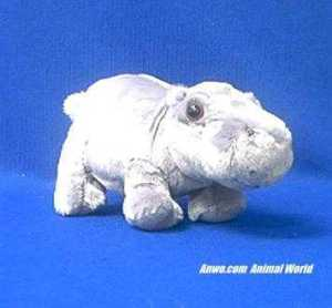 hippo plush stuffed animal small howard