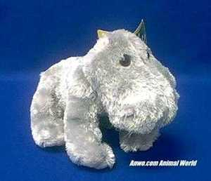 small hippo plush stuffed animal zoobie