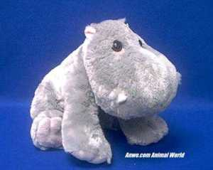 hippo plush stuffed animal zoobie