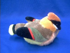 Cedar Waxwing Plush Stuffed Animal Toy with Sounds