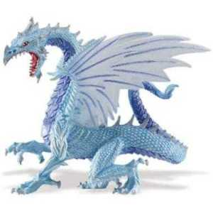Blue Ice Dragon Toy Miniature