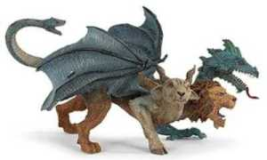 Chimera Dragon Toy Miniature Three Headed