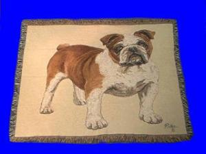 bulldog blanket throw tapestry