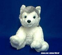 siberian husky plush stuffed animal