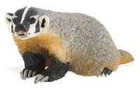 badger toy miniature figurine