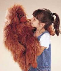 Orangutan Puppet Plush Stuffed Animal Toy