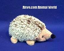 hedgehog plush toy stuffedd animal tan laying