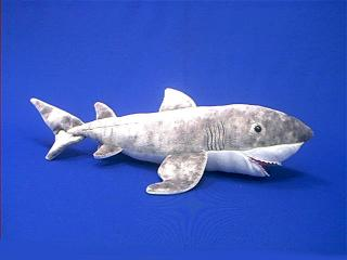 great white shark plush stuffed animal toy