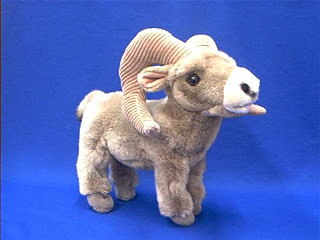 big horn sheep ram plush stuffed animal toy