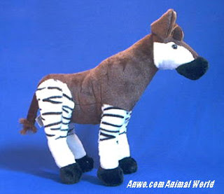 Okapi Plush Stuffed Animal Toy