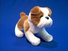 bulldog plush stuffed animal toy