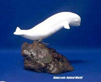 beluga whale figurine statue