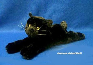 black cat plush stuffed animal toy