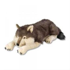 jumbo large wolf plush stuffed animal toy