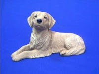 golden retriever figurine original statue