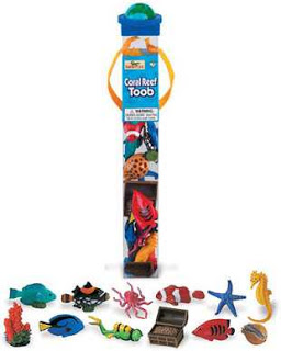 ocean animals toys tube