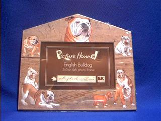 bulldog picture frame