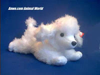 white poodle plush stuffed animal toy