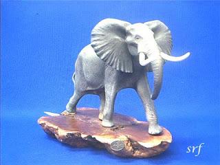 John Perry Elephant Figurine Statue
