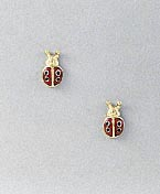 ladybug earrings post small