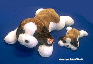 x large saint bernard stuffed animal plush toy