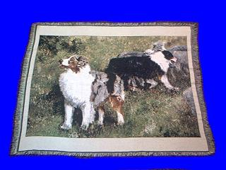 australian shepherd blanket throw tapestry