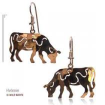 gold cow earrings jewerly