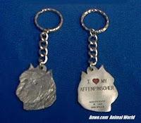 affenpinscher keychain pewter