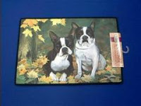 boston terrier doormat welcome mat