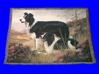 border collie throw blanket afghan tapestry
