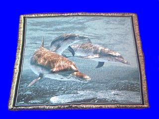 dolphin throw blanket tapestry afghan