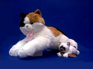 jumbo large calico cat stuffed anmal plush toy