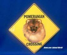 pomeranian crossing sign
