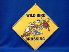 wild bird crossing sign