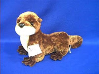 river otter stuffed animal plush toy aurora