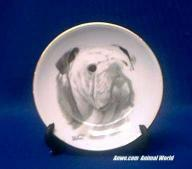 Porcelain Bulldog Plate