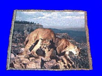 cougar mountain lion blanket throw tapestry
