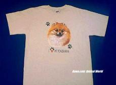 Pomeranian T Shirt Face