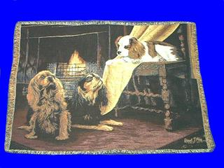 Cavalier King Charles Spaniel Throw Blanket Tapestry
