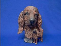 Irish Setter Dog Figurine Statue Bust Full Body