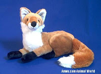 Realistic Fox Stuffed Animal Plush Toy
