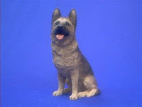 German Shepherd Figurine Sandicast Statue