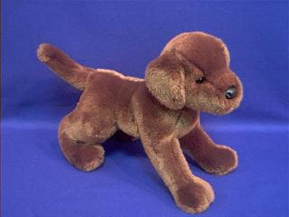 chocolate lab stuffed animal plush toy