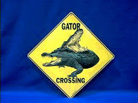 Alligator Sign Warning