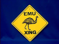Emu Sign Warning