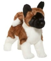 Akita stuffed animal toy plush dog